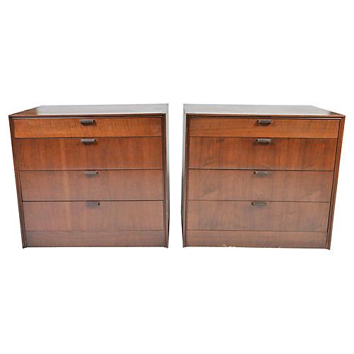 Midcentury Dressers, Pair