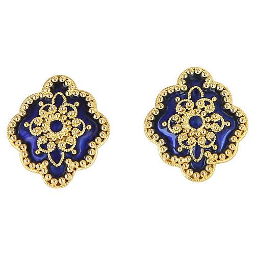 Enamel Cocktail Earrings