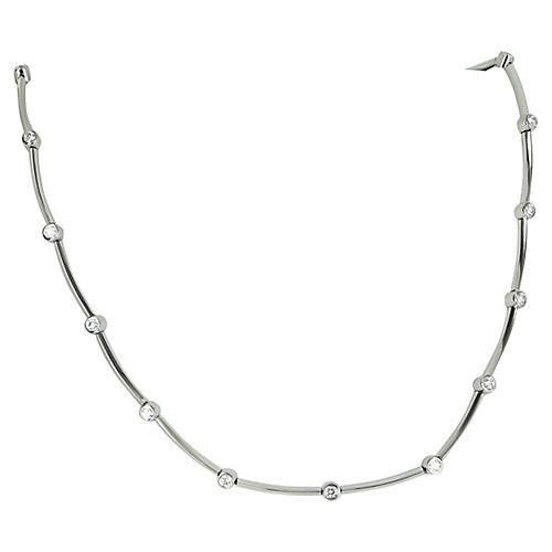 Tiffany & Co Diamond Station Necklace