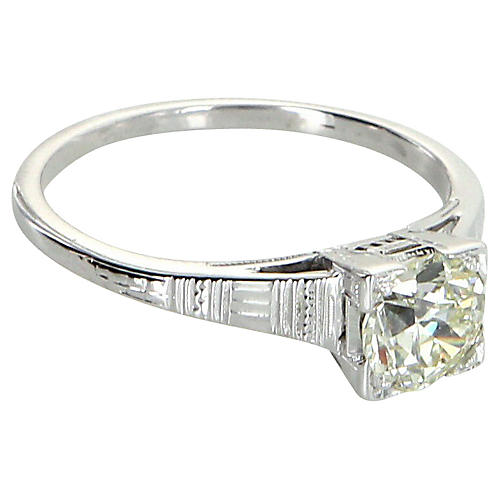Art Deco 0.85ct Diamond Engagement Ring