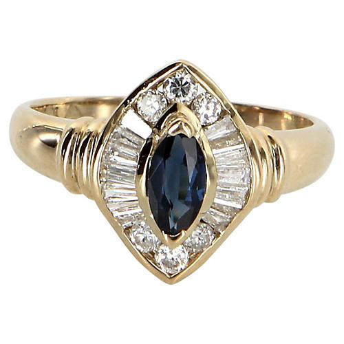 Sapphire & Diamond Cocktail Ring