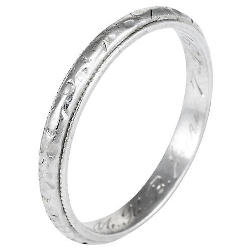 900 Platinum Wedding Band c1947