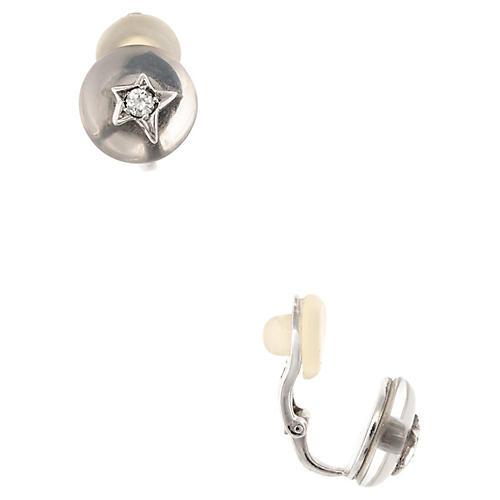 Chanel Comete Diamond Crystal Earrings