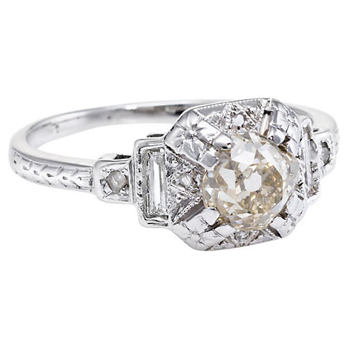 14k Art Deco Diamond Ring
