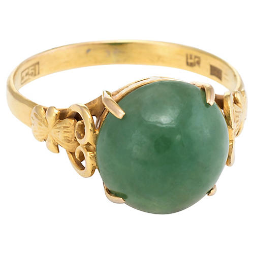 18k Gold Jade Cocktail Ring