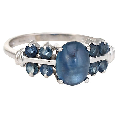 White Gold & Sapphire Ring