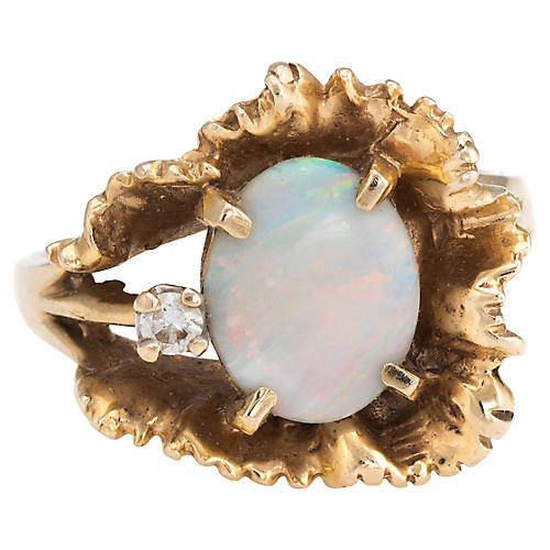14K Gold & Opal Cocktail Ring
