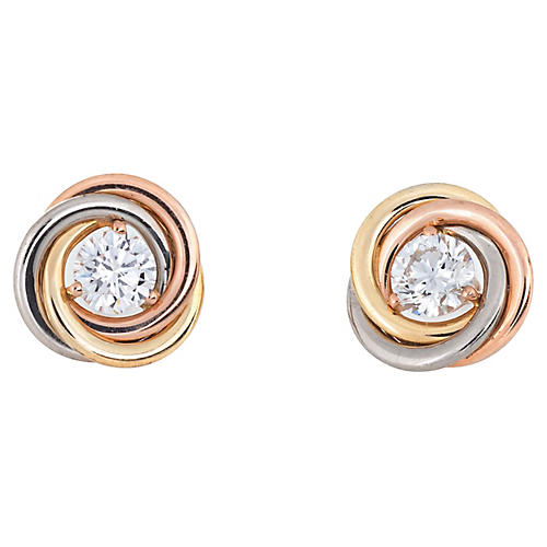 Cartier Trinity Diamond Stud Earrings