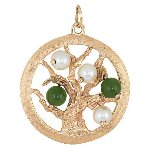 Tree of Life Pendant Charm 14k Gold