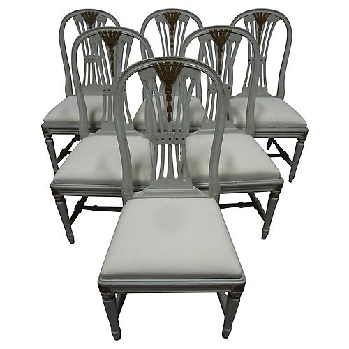 Gustavian-Style Side Chairs, S/6