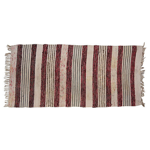 "Swedish Handwoven Rug, 2'9"" x 2"""