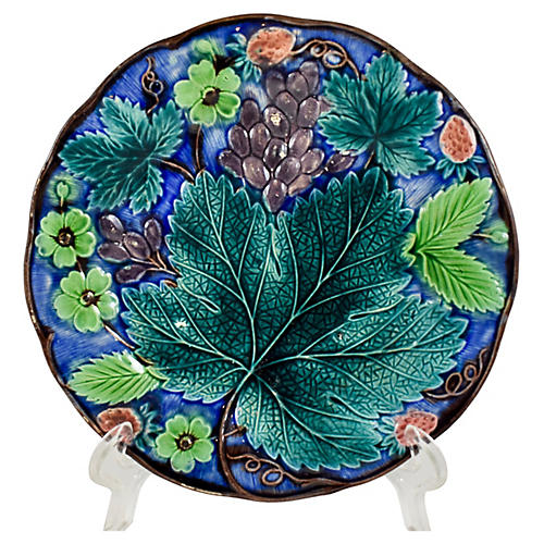 Gustavsberg Swedish Grape Leaf Plate