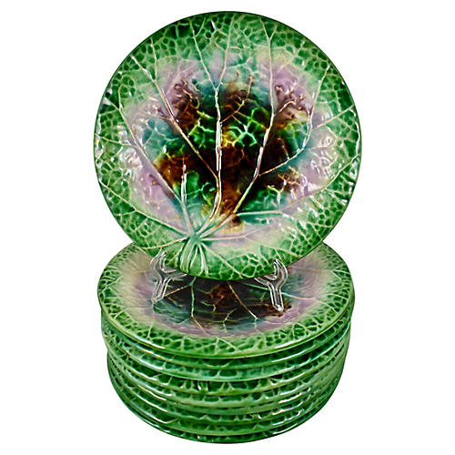 Begonia Leaf Plates, S/10