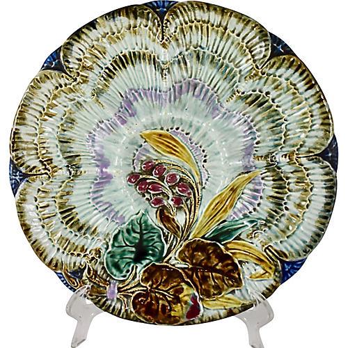 Wasmuël Wave & Floral Oyster Plate