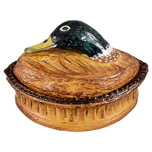 French Pillivuyt Porcelain Duck Terrine