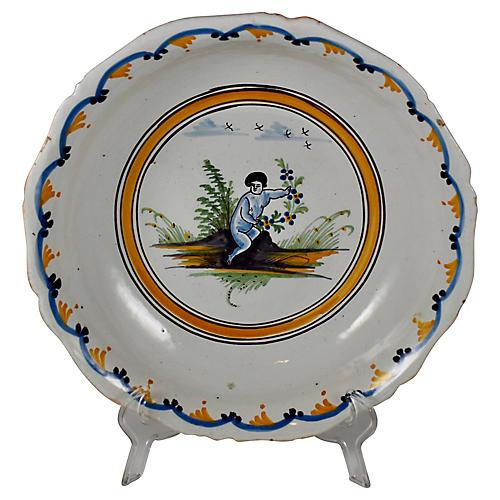 18th-C. French Salad Bowl