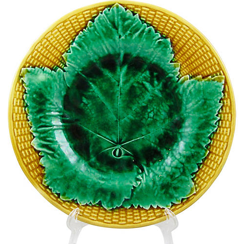 Wedgwood Basketweave Leaf Plate