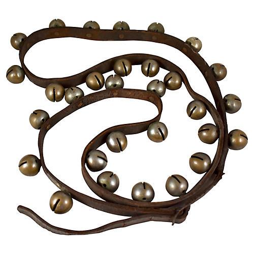 Antique Sleigh Bells, 8.5 foot long