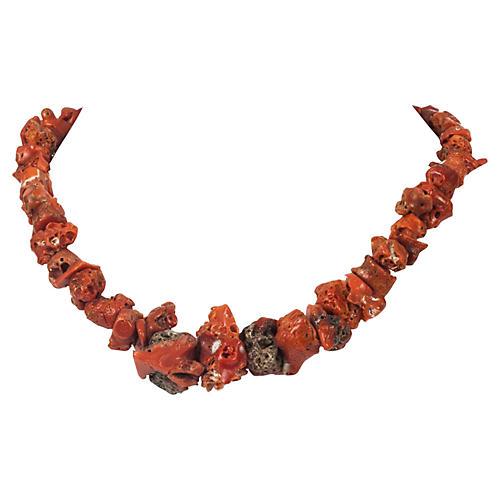 Mediterranean Red Coral Necklace