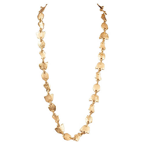 Balenciaga Gold Leaf-Motif Necklace