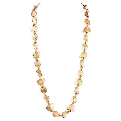 Balenciaga Gold Leaf-Motif Necklace