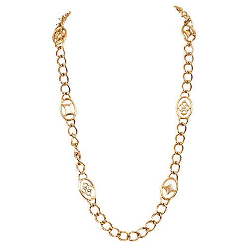 YSL Chain Flapper Necklace