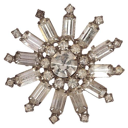 Starburst Rhinestone Pin