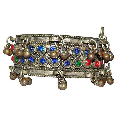 Afghani Hinge Glass Bell Bangle