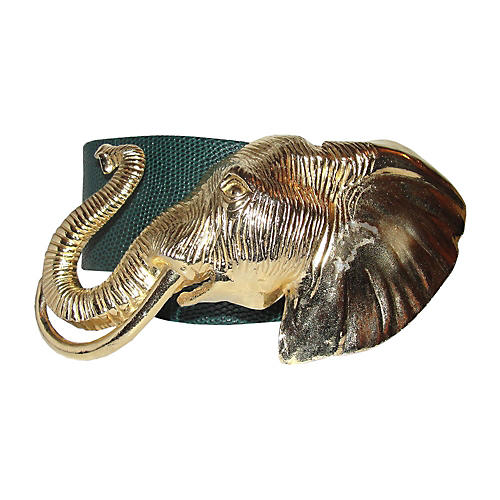 Accessocraft NYC Gold Elephant Belt