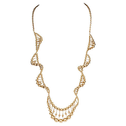 Givenchy Abstract Faux-Pearl Necklace