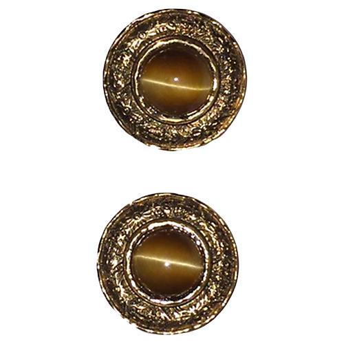 Chanel Tiger's Eye Earrings