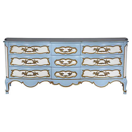 Karges Blue & White Dresser