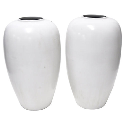 White Vases, Pair