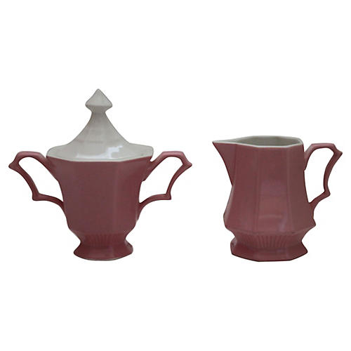 Independence Ironstone Creamer & Sugar