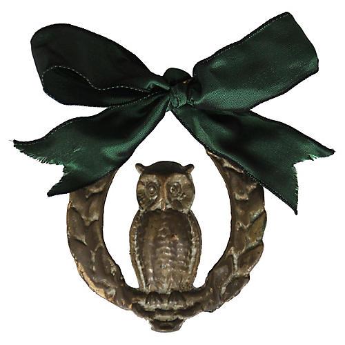 Brass Owl Ornament