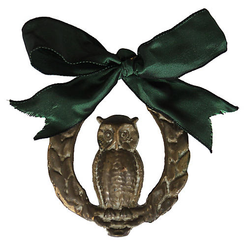 Brass Owl Ornament