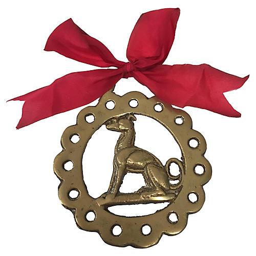 Antique Greyhound Ornament
