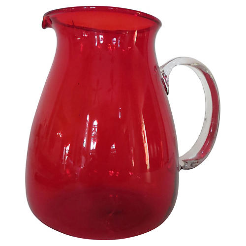 Crimson Water Pitcher