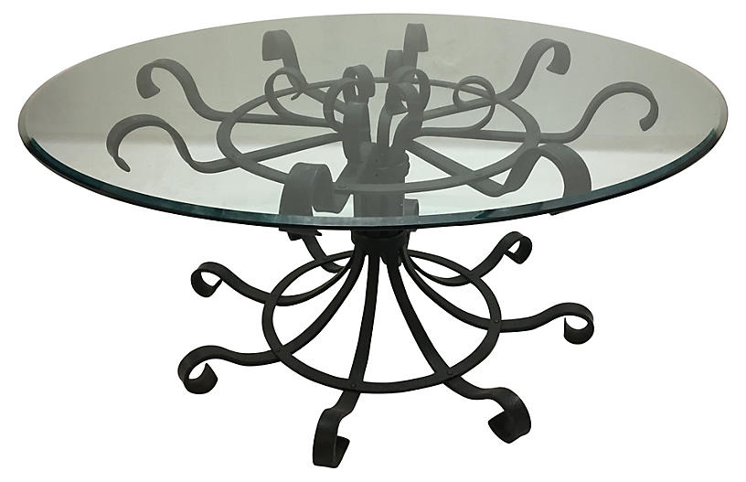 French Wrought Iron Dining Table