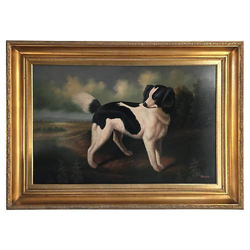 19th-C. English Spaniel Dog Portrait