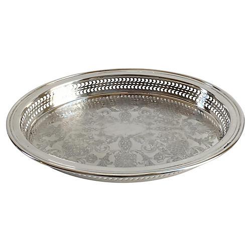 Pierced Silver-Plate Gallery Tray