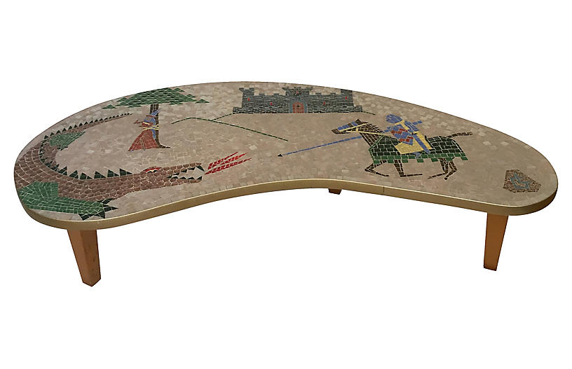 1960s Mosaic Boomerang Coffee Table