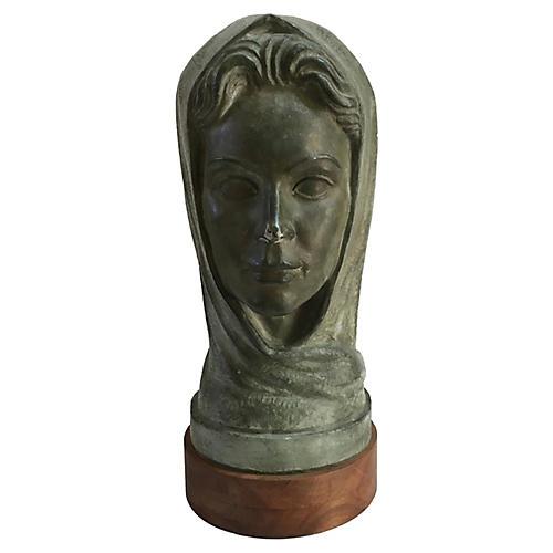 Monumental Midcentury Female Bust