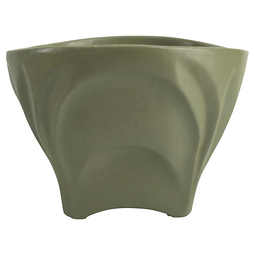 1950s Army Green Cachepot