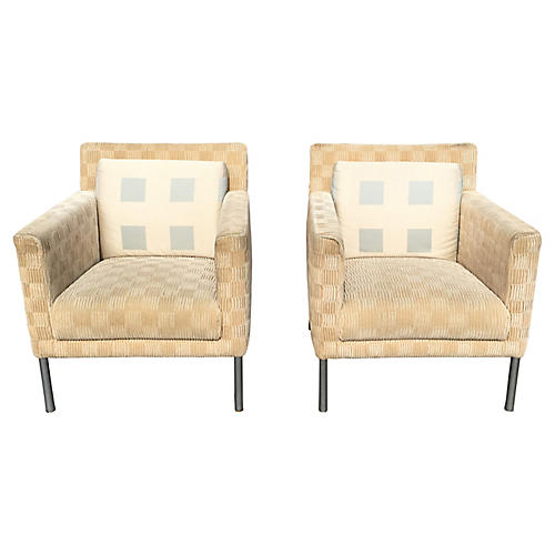 Walter Knoll Club Chairs, S/2