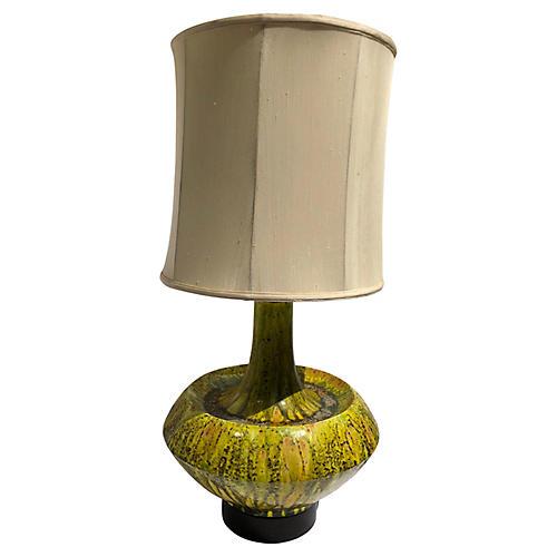 Mid-Century Modern Drip-Glaze Table Lamp