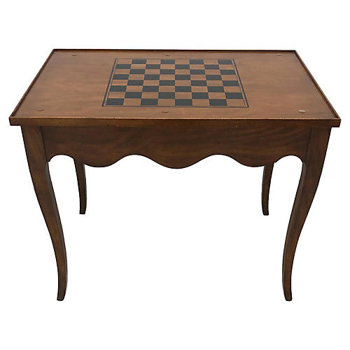 French-Style Burl-Wood Game Table