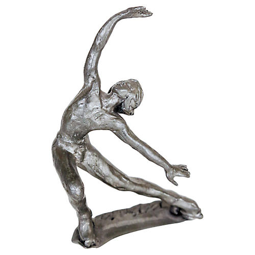 Pewter Roller Skater Figure