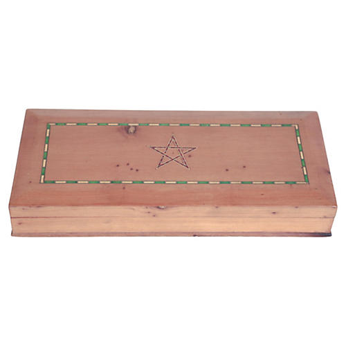 Marquetry Star Box