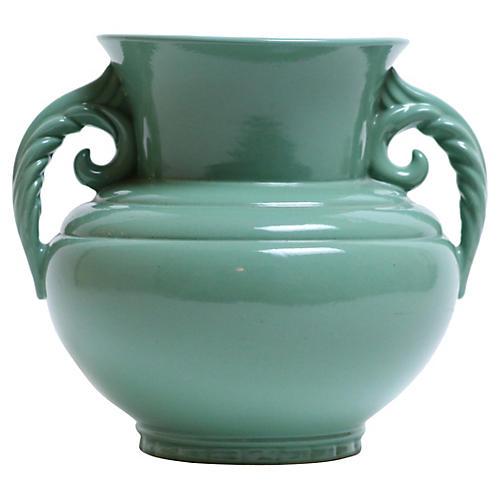 1940s Seafoam Urn-Style Vase